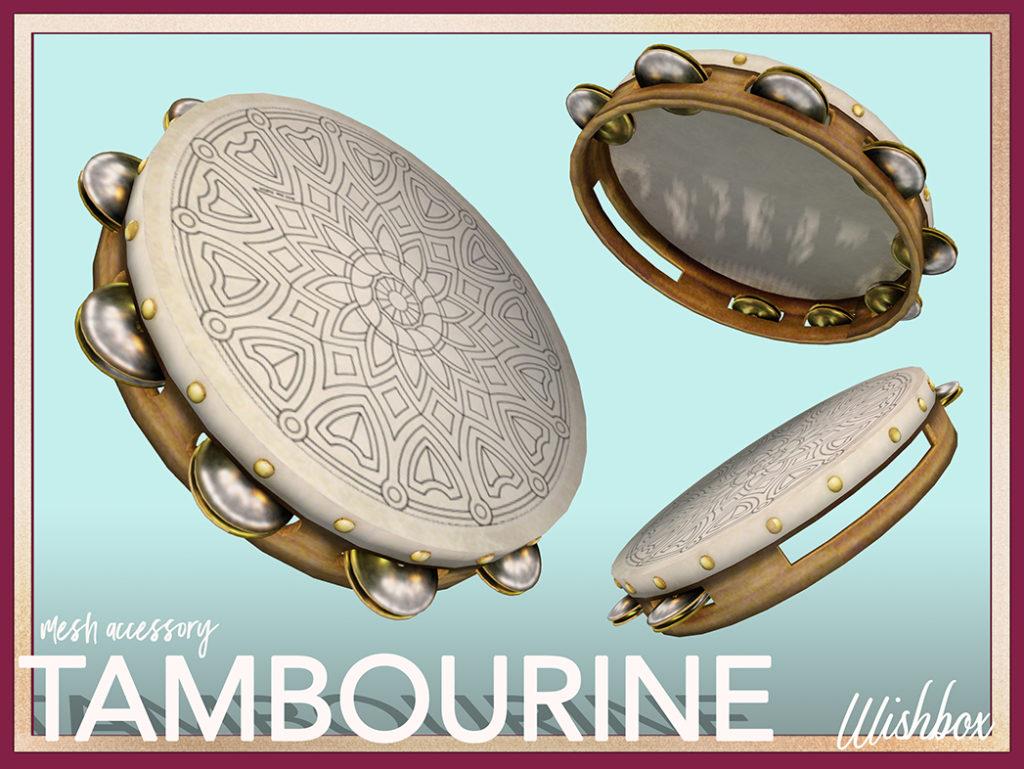 Tambourine Mesh Second Life