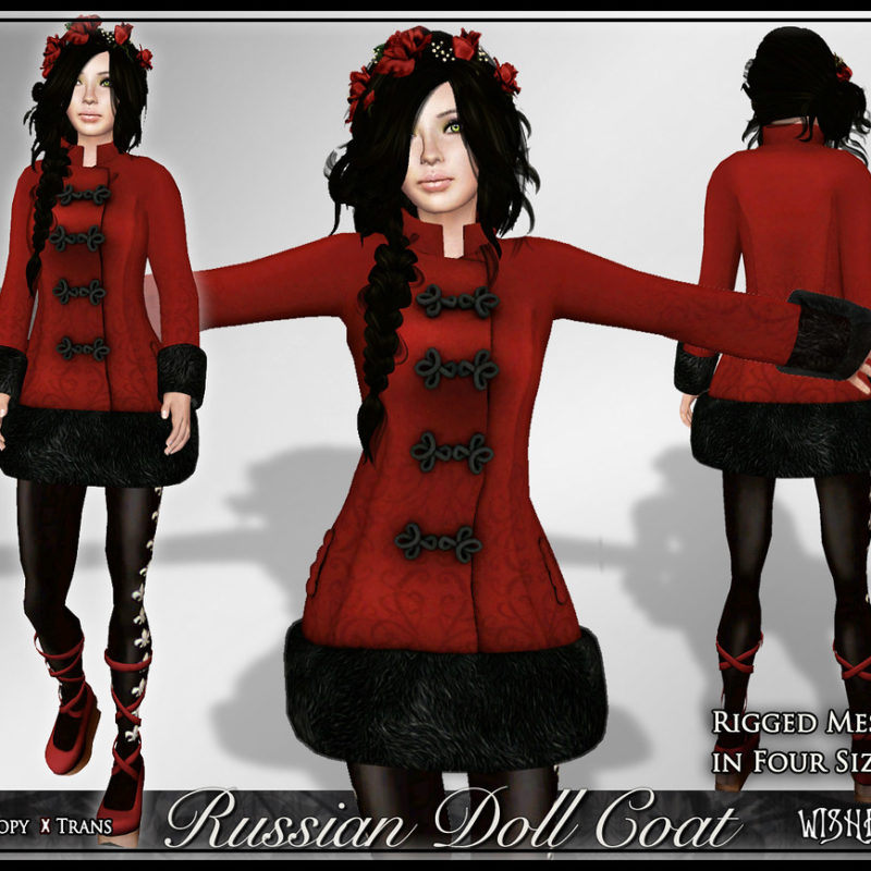 Russian Doll Coat: Mesh in Five Sizes