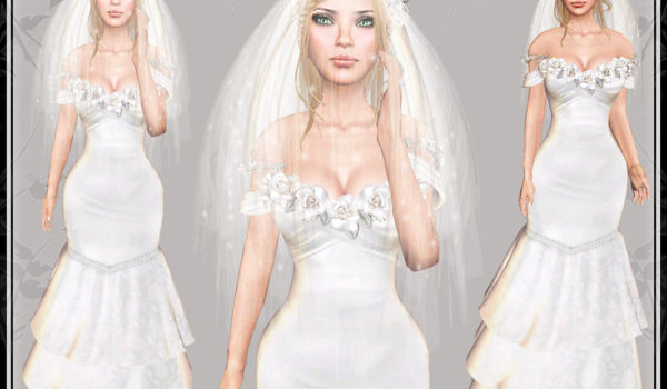 Seraphina: Second Life Wedding Dress with Veil